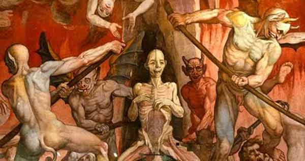 Representação medieval do inferno