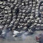 Destroços em Sendai após tsunami de 2011