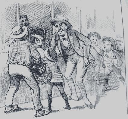Charge Revista Illustrada 1895 - Jogo do Bicho