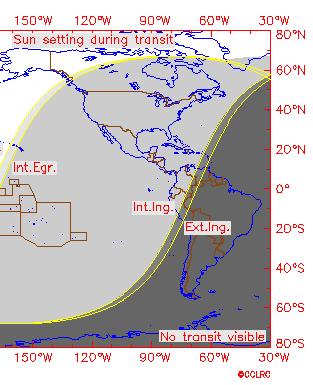 Visibilidade do trânsito de Vênus sobre o Sol em 1518