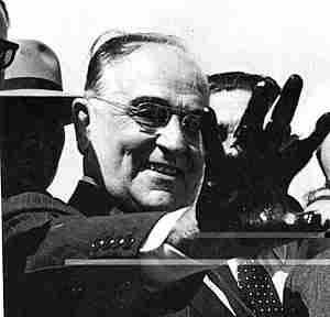 Getulio Vargas em aparição pública