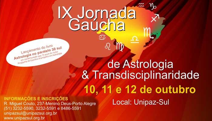 IX Jornada Gaúcha de Astrologia e Transdisciplinaridade - Unipaz-Sul