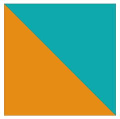 Triângulos isósceles no quadrado.