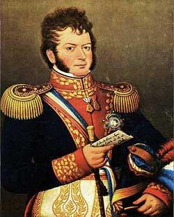 """O'Higgins, herói da independência do Chile. O culto aos """"salvadores da pátria"""" é uma característica do ciclo Saturno-Netuno."""