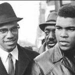 Malcolm X e o então Cassius X em visita à ONU