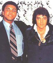 Com Elvis Presley nos anos 1970