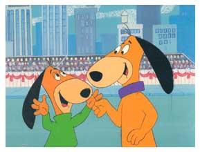 Bobi pai e Bobi filho. Animação de Hanna-Barbera.