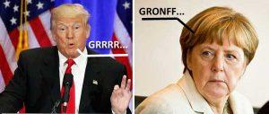 Trumo e Angela Merkel