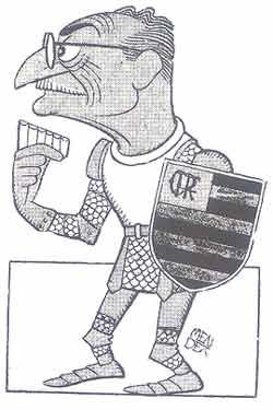 Ary Barroso em caricatura de Mendez