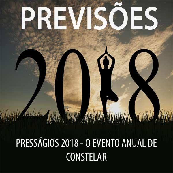 Presságios 2018 - as previsões de Constelar