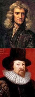 Isaac Newton e Francis Bacon