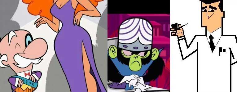 Prefeito, Srta. Bellum, Macaco Louco e Professor Utonium