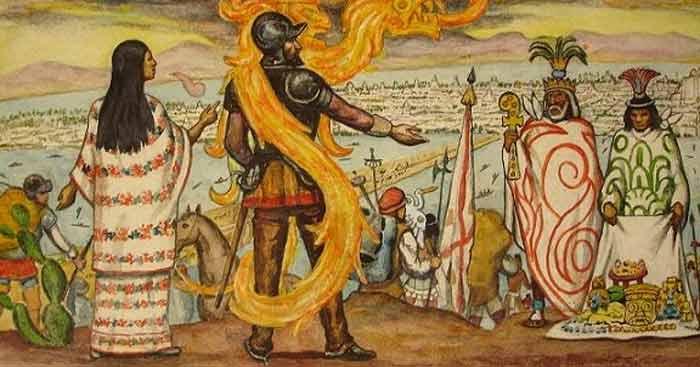 Montezuma e Cortés