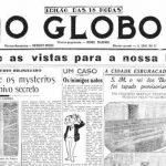 O Globo, primeira página da edição de lançamento.