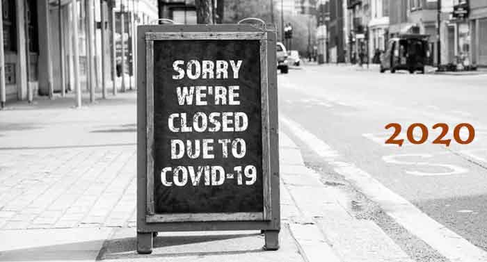 Lojas fechadas pela Covid-19