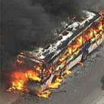 ônibus queimado