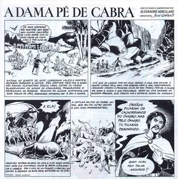 Dama Pé de Cabra em quadrinhos - Portugal