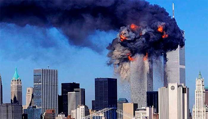 World Trade Center em chamas